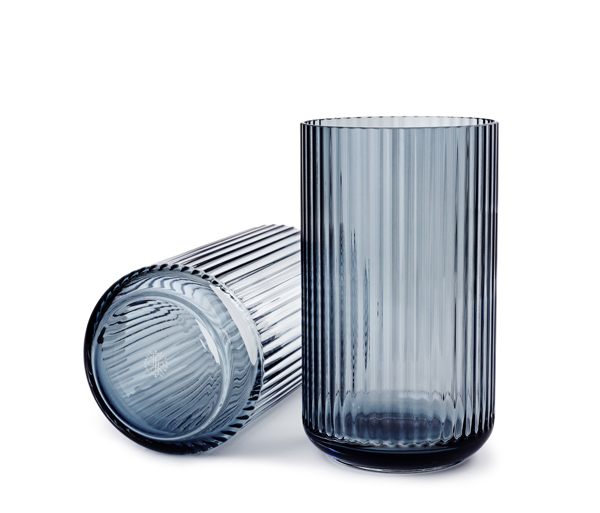 Lyngbyvasen glas 25cm blue-2