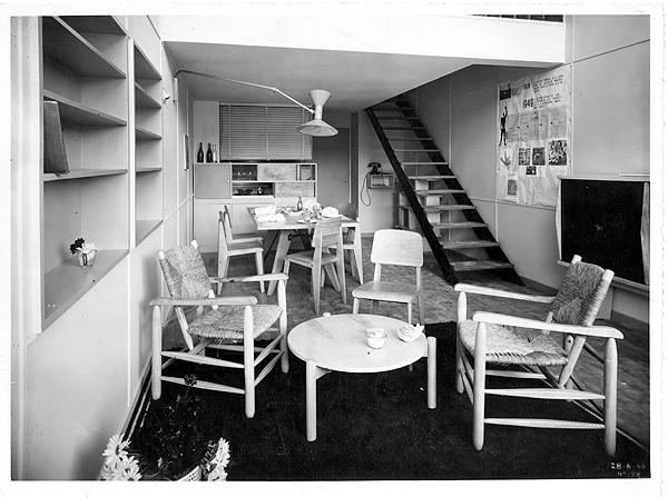 1954_Marseille Unité d'habitation_interior_@FLC