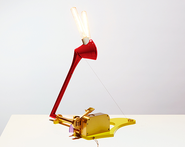 Pivot table lamp red-yellow Eddy Sykes