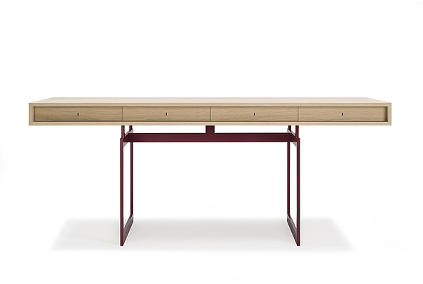 Bodil Kjær Desk, red frame Pack 02ok